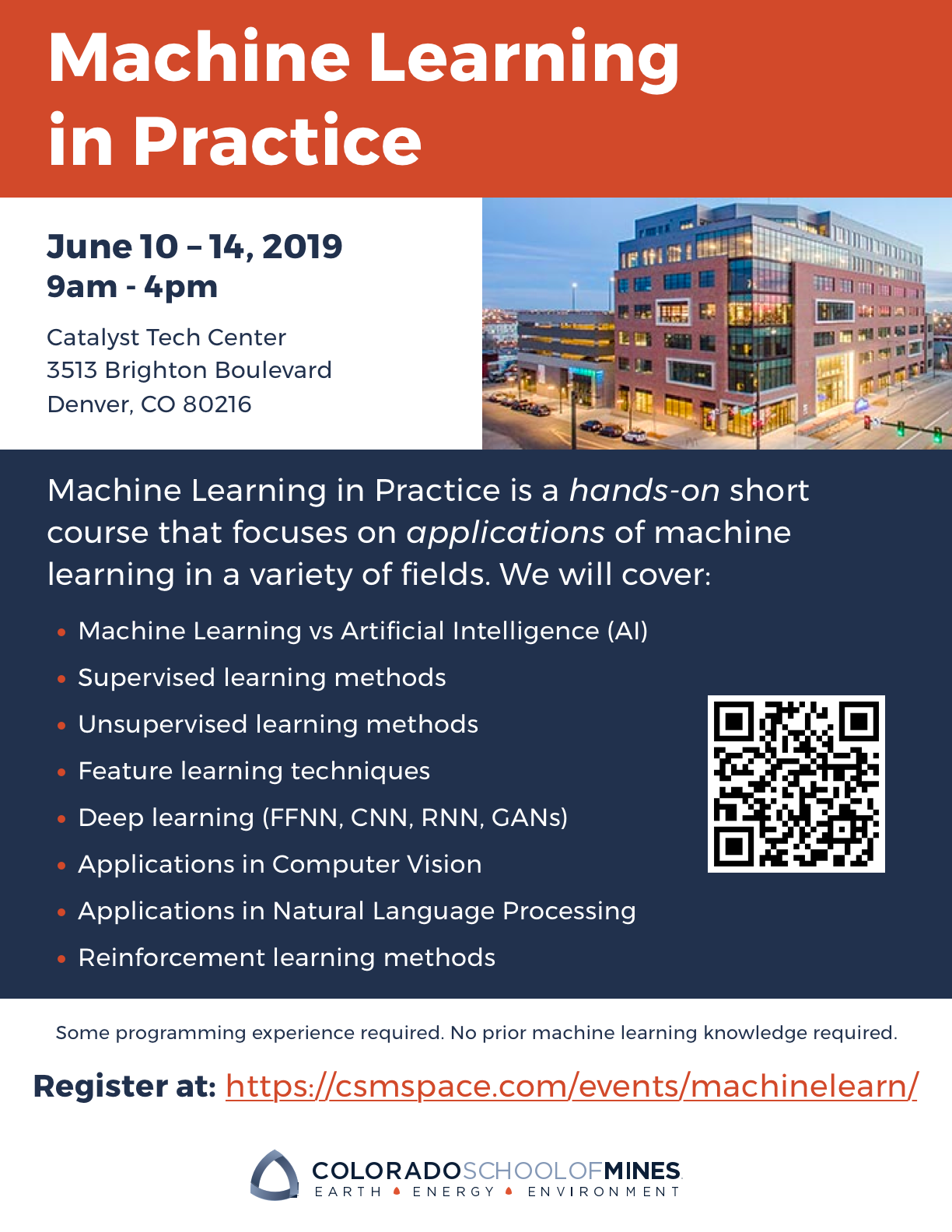 Announcing Machine Learning In Practice A Short Course Minds Mines